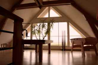 Une magnifique mezzanine à l'étage...